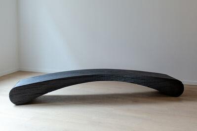 Kaspar Hamacher, 'Round Black Bench', 2020