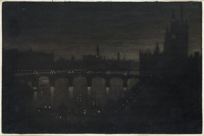 Joseph Pennell, 'Westminster, Evening', 1909
