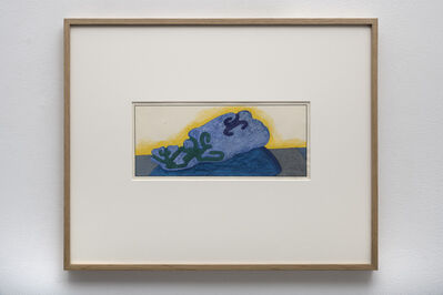 Ken Price, 'Blue Object Yellow Background', 1966