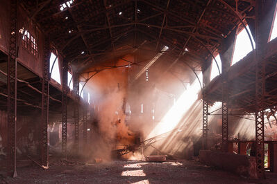 Isabelle & Alexis, 'Andalousia - Orange powder in an abandoned brick factory in Andalusia.', 2016