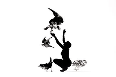 Zadok Ben-David, 'Birds and Figure', 2008