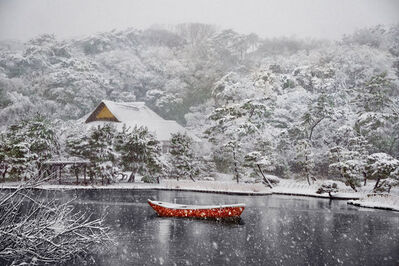 Steve McCurry, 'Boat Covered in Snow in Sankei-en Garden, Yokohama, Japan', 2014
