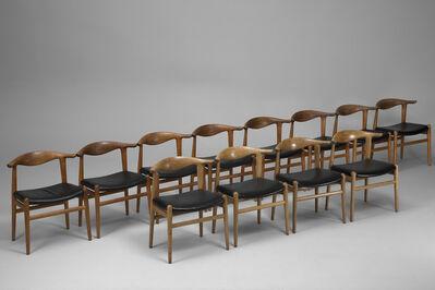 Hans Jørgensen Wegner, 'Set of Twelve 'Cowhorn' Chairs, Model No JH 505', ca. 1960