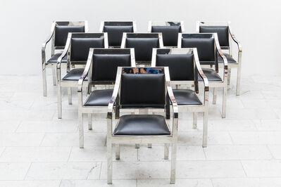 Karl Springer, 'Set of 10 Regency Dining Chairs', 1980s
