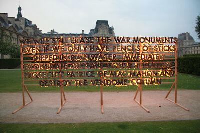 Robert Montgomery, 'Louvre Fire Poem', 2015
