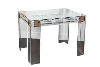 Charles Hollis Jones, 'Lucite Backgammon Table in the Manner of Charles Hollis Jones', ca. 1980