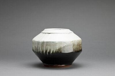 Shinsaku Hamada, 'Vase, black and white glazes', 2015