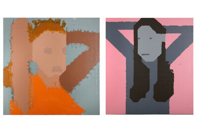 Julia Warr, 'Young Woman with Raised Arms 2'
