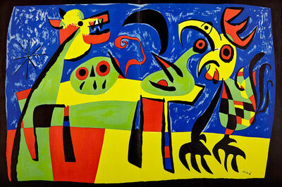 Joan Miró, 'The Dog Barking at the Moon', 1952