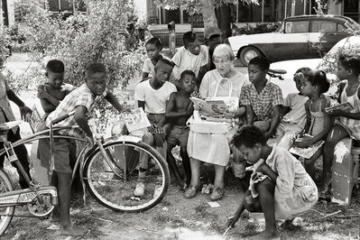 Steve Schapiro, 'Woman Reading to Children, Freedom Summer', 1964