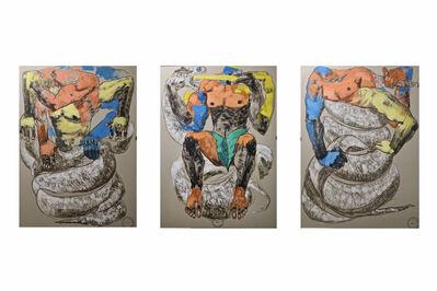 Girmachew Getnet, 'Circle I (triptych)', 2021