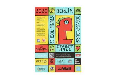 Thierry Noir, '2020 street ball poster', 2020