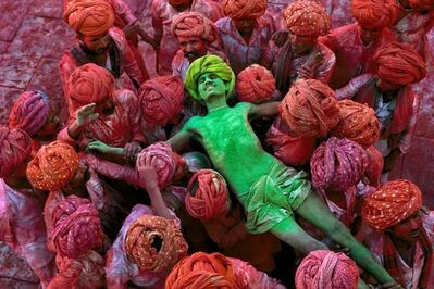 Steve McCurry, 'Holi Festival, Rajasthan, India', 1996