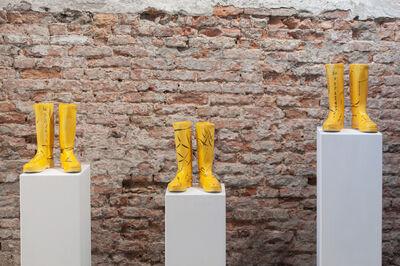 Marcos Lutyens, 'Inductive rig leg boots I, II, III', 2018