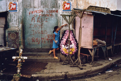 Susan Meiselas, 'Memorial honoring student martyrs who were killed in the attack on the market. Juigalpa, Nicaragua', 1978