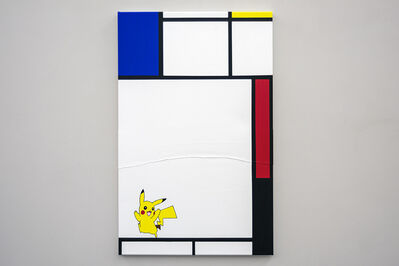 Michael Pybus, 'Composition with Blue, Red, Pikachu and Black', 2018