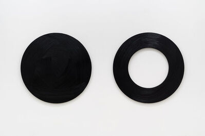 Carl Trahan, 'Deux cercles noirs', 2020