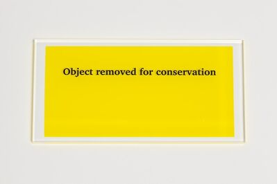 Anna Blessmann and Peter Saville, 'Object removed for conservation', 2013