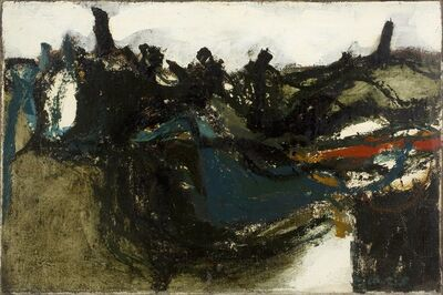 William Crozier, 'Dried Lake, Essex', 1959