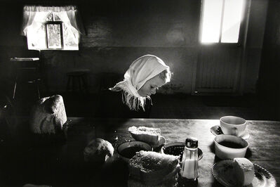 Larry Towell, 'Helen Dyck, La Batea Colony, Zacatecas, Mexico', 1992