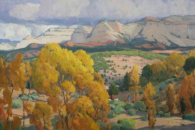 "G. Russell Case, '""Autumn at White Cliffs""', 2017"
