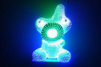 河口洋一郎Kawaguchi Yoichiro, '光點蛋寶寶LED Eggy Boy_玻璃纖維, LED, 感應器, FRP, LED Sensors_90x70x40cm_', 2017