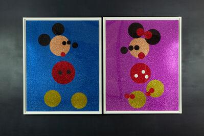 Damien Hirst, 'Micky and Minnie glitter spot print ', 2016