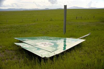 Dallas Parkins, Jr, 'Sign Down (Cheyenne) #1', 2014