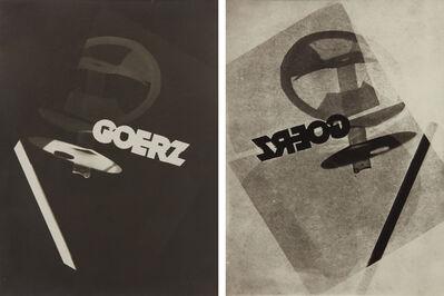 László Moholy-Nagy, 'Photogram studies for Goerz (negative and positive)', 1925