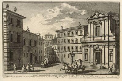 Giuseppe Vasi, 'Chiesa e Monastero di S. Chiara, delle Suore del Terz' Ordine di S. Francesco', 1747-1801
