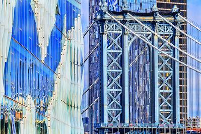Mitchell Funk, 'Manhattan Bridge from Brooklyn in Blue', 2019