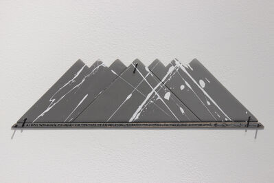 Hamish Fulton, 'A 21 DAY WALKING JOURNEY  VIA THE TOPS OF SEVEN SMALL ENGADIN MOUNTAINS  SWITZERLAND 2007'
