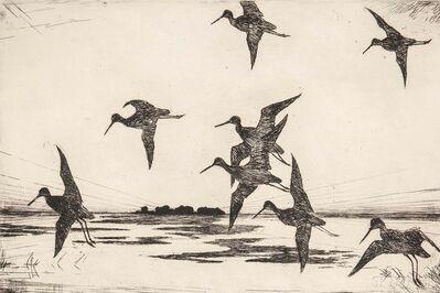 Frank Weston Benson, 'Yellowlegs at Dusk', 1928