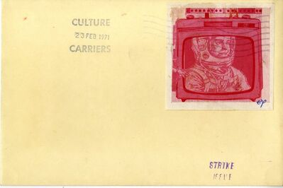 """Eduardo Paolozzi, '""""CULTURE CARRIERS STAMP OUT ART"""" (SIGNED) from the Collection of Art Critic Anthony Haden-Guest', 1971"""