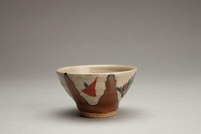 Tomoo Hamada, 'Sake cup, kaki glaze with akae decoration', 2018