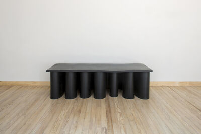 Brian Thoreen, 'Black Rubber Console Table Low', 2019