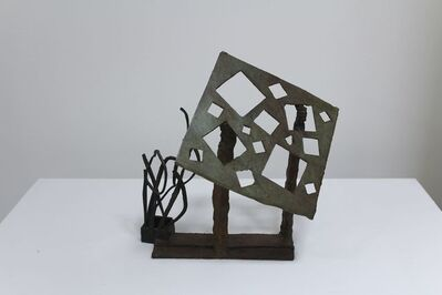 David Haxton, '(Bronze Sculpture no. 2) Arabesque and Suspended Square with Irregular Holes', 1984