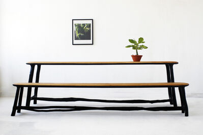 """Valentin Loellmann, '""""Fall/Winter"""" benches and table', 2015"""