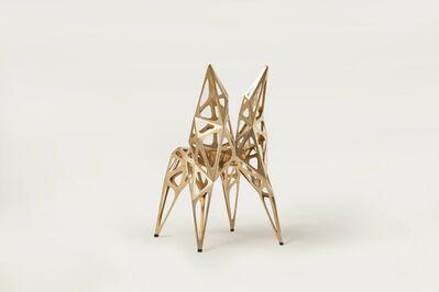 Zhoujie Zhang, 'Brass Chair (Endless Form Chair Series)', 2018