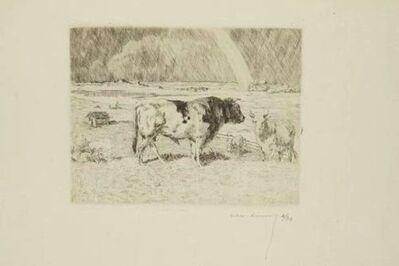 Alexandre Lunois, 'Taureau dans un pré / Bull in a Meadow', 1912