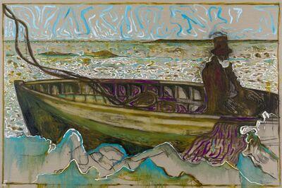 Billy Childish, 'man on an icy sea (version y)', 2013