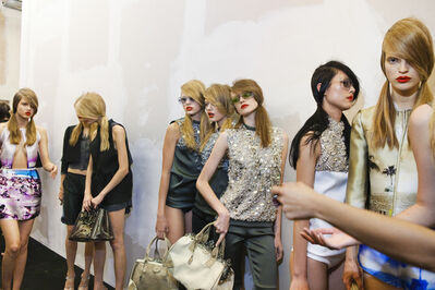Lauren Greenfield, 'Models backstage at Prada's spring show, Milan', 2009