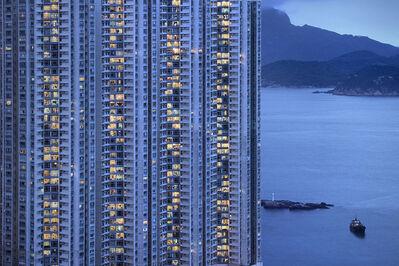 Romain Jacquet-Lagrèze, ''The Blue Moment #6' Hong Kong', 2016