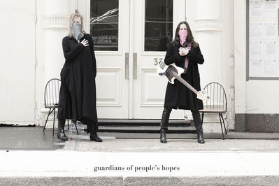 Renate Aller, 'side walk – Guardians of People's Hopes', 2020