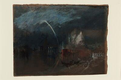 J. M. W. Turner, 'Venice: Santa Maria della Salute, Night Scene with Rockets', 1840