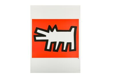 Keith Haring, 'Icon Red Dog'