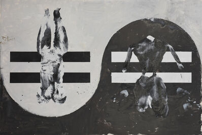 Huang Rui, 'Black and White Cats No.6', 2015