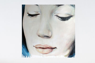 Kati Verebics, 'Blue face (self-portrait with drooping eyelids)', 2015