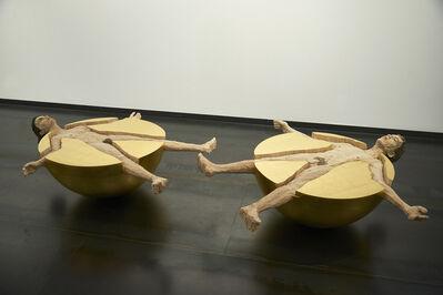 Stephan Balkenhol, 'Kugelmenschen (Frau und Mann)', 2012
