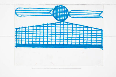 Evelyn Reyes, 'Fence with Carrots (Blue)', 2003
